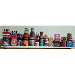 APPROX 45 COLLECTIBLE TINS