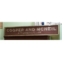 CUSTOM COOPER AND MCNEIL ATTORNEYS AT LAW WOOD SIGN