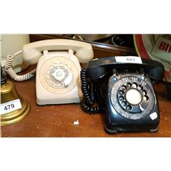 TWO VINTAGE ROTARY TELEPHONES