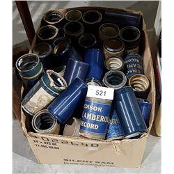 APPROX 40 ANTIQUE GRAMOPHONE CYLINDERS