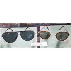 TWO PAIRS VINTAGE AVIATOR STYLE SUNGLASSES