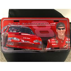 EXCLUSIVE NASCAR COLLECTION! DALE EARNHARDT JR COLLECTORS LICENSE PLATE, SNOW GLOBE AND LIMITED EDIT