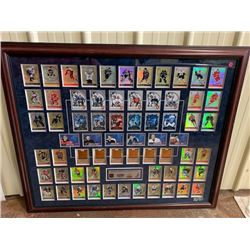 BEAUTIFULLY FRAMED 2001, 2002 PRISM GOLD HOCKEY CARD COLLECTION FEATURING MARK MESSIER, RYAN SMYTH,