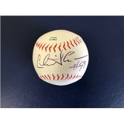 AUTOGRAPHED CHARLIE SHEEN BASEBALL SIGNED ON THE SWEET SPOT BY THE STAR OF EIGHT MEN OUT AND TWO AND