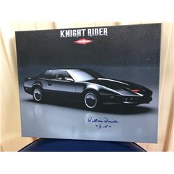 ORIGINAL GICLEE FEATURING AN IMAGE OF KITT SIGNED BY ACTOR WILLIAM DANIELS. SPECIAL EDITION ITEM AND