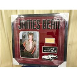 ORIGINAL INK SIGNATURE BY THE LEGENDARY JAMES DEAN. INCLUDES COA