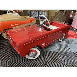 VINTAGE 1965 FORD MUSTANG RESTORED PEDAL CAR