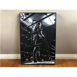LARGE BLACK AND WHITE CANVAS PRINT OF MUHAMMAD ALI