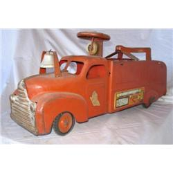 1930s Marx Ride on Fire Truck-orginial