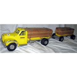 1954 Smith Miller D Mack Lumber Truck and Pup-org