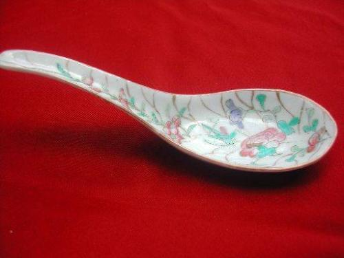Asian porcelain soup spoons