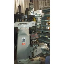 Bridgeport Textron Milling Machine with Digital Read Out and Feed on Axes for R8
