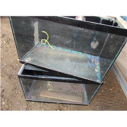 "LOT OF 2 FISH TANKS ( 24"" X 12"" X 16"")"