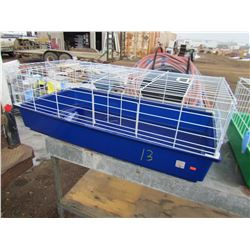 "HAMSTER CAGE (NEW) *38"" X 20"" X 14"") (BLUE)"