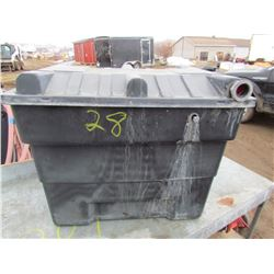 "PLASTIC TUB AND FILTERS (HOZE LOCK) *USED* (24"" X 27"" X 20"")"