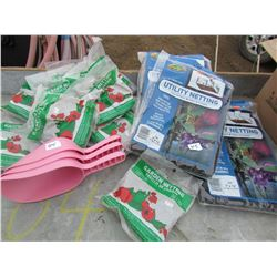 LOT OF GARDEN AND UTILITY NETTING (SCOOPS ETC) *NOS*