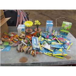 LARGE LOT OF BIRD SUPPLIES (FEEDERS, MIRRORS, ETC) *NOS*