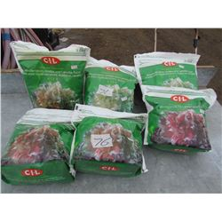 LOT OF 6 BAGS OF GRANULAR PLANT FOOD  (4-12-8) *NOS*