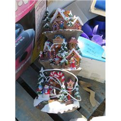 PALLET OF MISC HOUSEHOLD ITEMS (3 CHILD'S CHAIRS, PICTURE FRAMES, CHRISTMAS DECORATIONS, ETC)