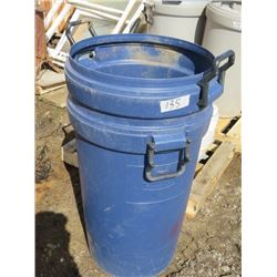 LOT OF 2 PLASTIC GARBAGE CANS