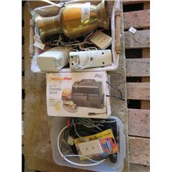 LOT OF MISC HOUSEWARES (PORTABLE STOVE)