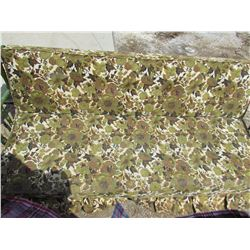 GREEN FLORAL SOFA (VINTAGE) *FOLDS DOWN INTO BED*