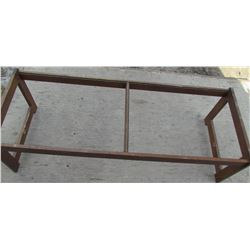 COFFEE TABLE (VINTAGE) *WITH GLASS*