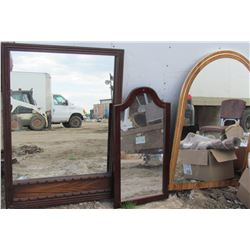 LOT OF 3 LARGE DRESSER MIRRORS