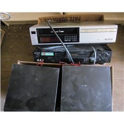 """LOT OF MISC ELECTRONICS (VCR X 2) *2 SPEAKERS* (19"""" TV)"""