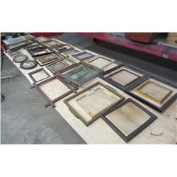 """LOT OF 40 PICTURES AND FRAMES (SMALLEST 4"""" X 5"""" ) *LARGEST 12"""" X 16""""*"""