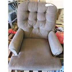 ROCKING CHAIR (ROCKS AND SPINS) *UPHOLSTERED* (BEIGE)