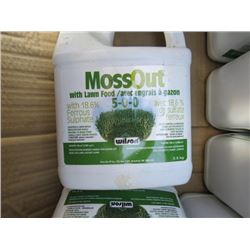 LOT OF MOSS OUT WITH LAWN FOOD (7 BOXES) * 5-0-0* (18.6% FERROUS SULPHATE) *NOS*