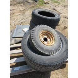 "LOT OF 6 TIRES ( 16"", 15"", 2 X 17"", 14"", 8"")"