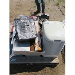 DEHUMIDIFIER AND MISC ITEMS (PORTABLE STOVE, CHRISTMAS CARDS, ETC)
