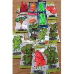 LOT OF 13 ASSORTED FISH TANK PLANTS (NOS)