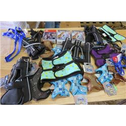 LOT OF 24 DOG HARNESSES (VARIOUS SIZES) *NOS*
