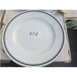 LOT OF 72 CHINA PLATES (1969-9 INCH) *N.O.S.* (VANDESCA-MADE IN CANADA) *BAND VERTE* (NOS)