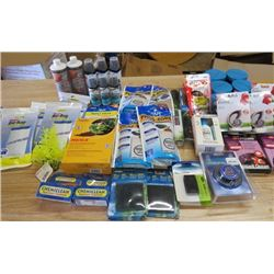 LOT OF 48 ASSORTED FISH ITEMS (MICROBE LIFT, MICRO LIFT GEL, 4 LARGE FILTERS, CHEMICLEAN, FOOD STICK