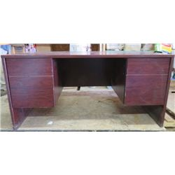 """DESK (LARGE) *WOOD* (4 DRAWERS) *60"""" WIDE X 29"""" TALL X 75"""" LONG*"""