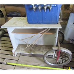 SODA CART (HOME BUILT) *ON 2 WHEELS* (WITH HOSES) *4 X PEPSI TAPS*
