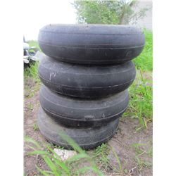 LOT OF 4 SEED DRILL TIRES (WITH RIMS) *5 BOLT PATTERN* (70 PSI) *4.80-8NHS*