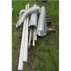 PALLET OF MISC ITEMS (2 X EAVESTROUGH APPROX 5'/EACH, FURNACE DUCTING APPROX 8.5' TOTAL, DRYER VENT