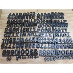 LOT OF 30 LETTERS AND NUMBERS (PLASTIC) *SIGNAGE*