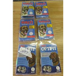 LOT OF 6 DOG HEAD COLLARS ( 3 X SMALL) *1 X SIZE 4* (2 X SMALL) *NOS*