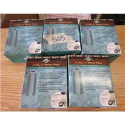 LOT OF 5 HEALTHY PET WATER FILTERS (2 PER PACKAGE) *NOS*