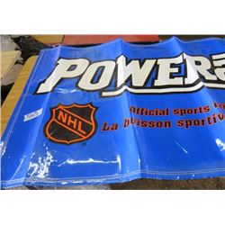 """POWERADE BANNER (OFFICAL SPORTS DRINK OF THE NHL) *68""""L X 36""""W*"""