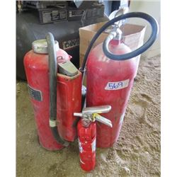 LOT OF 3 FIRE EXTINGUISHERS (45LB CANISTER) *AMEREX* (2.5LB MODEL # B403) *PAFD*