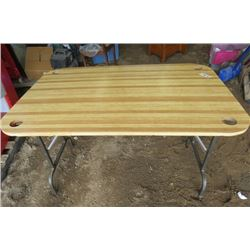 "TABLE (FOLDABLE) *CUP HOLDERS IN EACH CORNER* (48""L X 32""W X 29""H)"