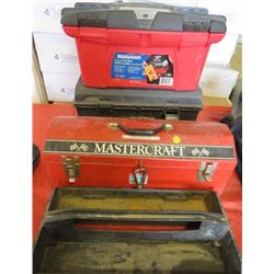LOT OF 3 TOOL BOXES (FULL OF MISC TOOLS)