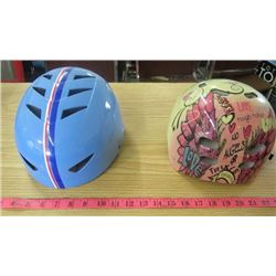 LOT OF 2 YOUTH HELMETS (BLUE 55-58 CM) *PINK 55-58 SM*